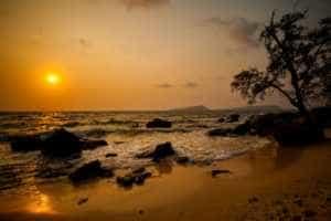 Sunset on Koh Rong Samloem