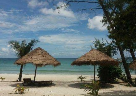Nature Beach on Koh Rong Island in Cambodia