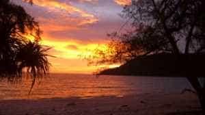 Sunset on Lazy Beach