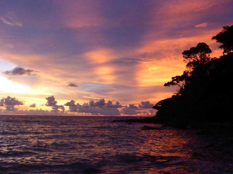 Sunset Beach on Koh Rong Samloem