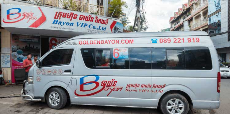 Bayon VIP Bus From Phnom Penh to Sihanoukville