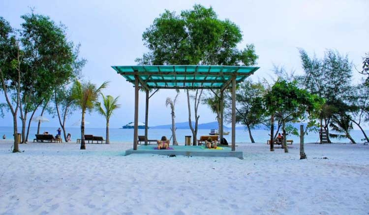 The Beach at Long Set Resort on Koh Rong Island in Cambodia