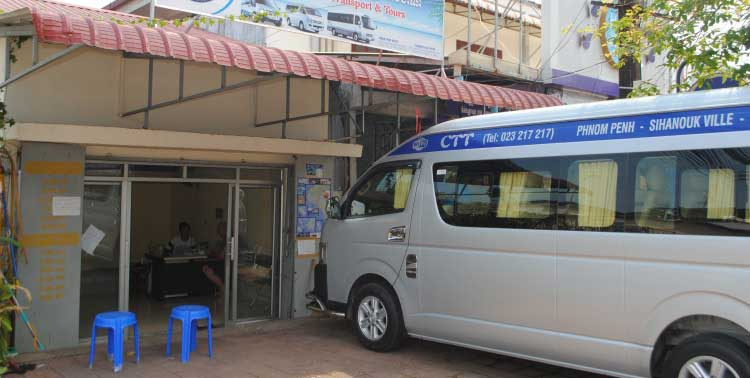 CTT Bus From Sihanoukville to Kampot